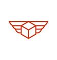 flying box logo vector image