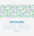 food intolerance concept with thin line icons vector image vector image