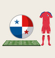 football panama sport wear vector image vector image