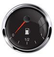 fuel car gauge black round device vector image vector image
