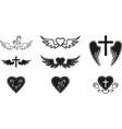 funeral symbols vector image vector image