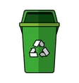 garbage bin isolated icon vector image vector image
