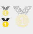 gold medal mesh 2d model and triangle