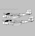 grumman ea-6 prowler vector image vector image