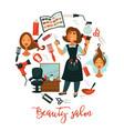 hair beauty or woman hairdresser salon poster