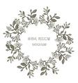 Herbal medicine label or frame sketchy design with vector image vector image