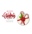 holiday christmas card with lettering vector image vector image