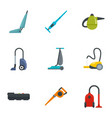 house vacuum cleaner icon set flat style vector image vector image