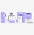 infant care purple brochure template