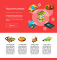 isometric hotel icons page vector image vector image