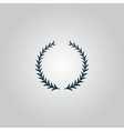 Laurel wreaths set isolated vector image vector image