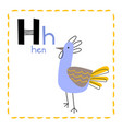 letter h funny alphabet for young children