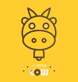 line style cow vector image vector image