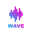 logo of the sound wave equalizer vector image