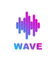 logo sound wave equalizer vector image vector image