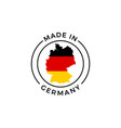 made in germany label icon german flag map vector image vector image