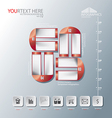 Magnet of Abstract business infographic background vector image vector image