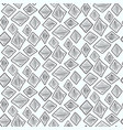 monochrome pattern with hand drawn scratched rhomb vector image vector image
