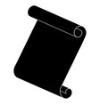 paper scroll silhouette symbol icon design vector image vector image