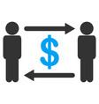 persons exchange dollar icon vector image vector image