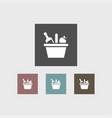 picnic basket icon simple vector image vector image