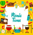 picnic time paper concept vector image vector image