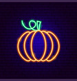 pumpkin neon sign vector image