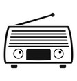 radio tuner icon simple style vector image vector image