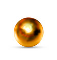 realistic glossy bronze sphere with glares vector image vector image