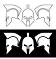 Roman greek helmet vector image vector image