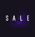 sale banner dotted particles on a dark background vector image vector image