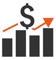 Sales Bar Chart Flat Icon vector image vector image