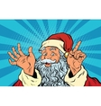 Santa Claus resembles pop art retro vector image