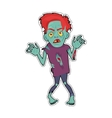 Scary Zombie Man Walking Flat vector image vector image