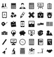 school calculator icons set simple style vector image vector image
