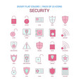 security icon dusky flat color - vintage 25 icon vector image vector image