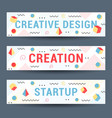 set geometric pattern flyers and banners vector image vector image