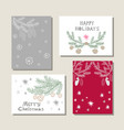 set of christmas cards19 vector image