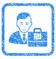 shekel accounter framed stamp vector image vector image
