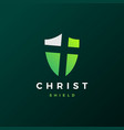 shield christ logo icon vector image vector image