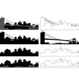 silhouette city 8 vector image vector image