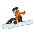 Snowboarder 2 vector image vector image
