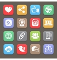 Social network icon for web mobile vector image