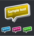 speech bubbles set vector image vector image