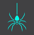 spider glyph icon halloween and scary danger vector image vector image