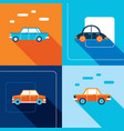 stylish car icon set modern flat design style vector image