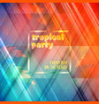 summer night party flyer design template with vector image