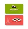 Sushi business card vector image vector image