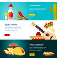 tasty mexican traditional cuisine food restaurant vector image vector image