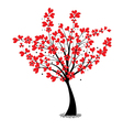 valentine tree flower shaped heart vector image vector image
